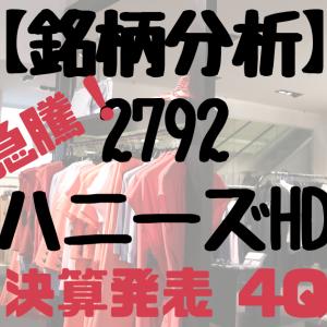【急騰!】2792ハニーズHD【婦人服】【優待】