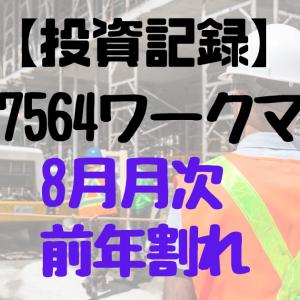 【2021.8月月次】7564ワークマン【前年割れ】