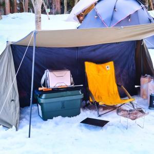 雪中キャンプで、缶詰飯にローストビーフ、漫画にでてくるご飯も作ってみたよ! in るぽぽの森