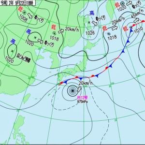 台風12号接近