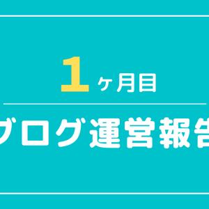 ブログ運営報告・1ヶ月目【アフィリエイト収益・アクセス数】