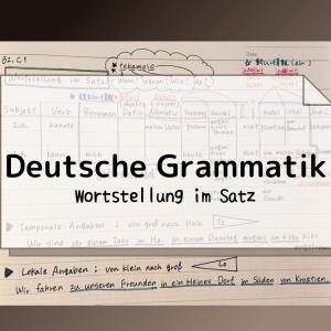 ドイツ語テキストの苦手なところ(ドイツ語語順まとめました)
