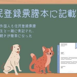 【外国人登録証を貰ったら】住民登録票謄本に外国人配偶者を記載申請する