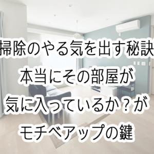 【掃除のやる気を出す秘訣】その部屋が本当に気に入っているか?がモチベアップの鍵