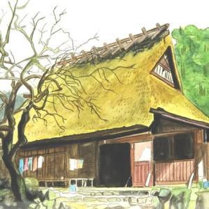 茅葺屋根の農家