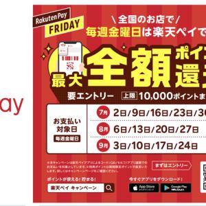 【お知らせ】楽天ペイフライデー始まる!