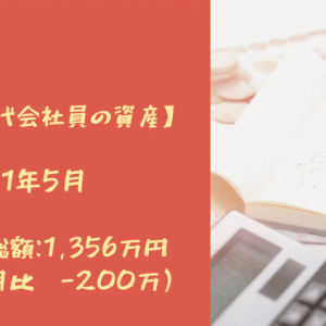 【30代会社員の資産】2021年5月 資産総額:1,356万円(先月比-200万)