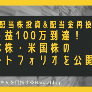 含み益100万到達!日本株・米国株のポートフォリオを公開します。