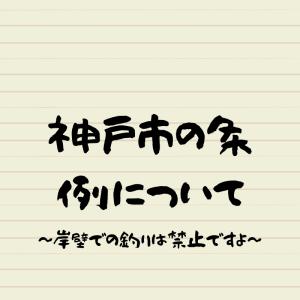 神戸市内は岸壁での釣りは全面禁止!これは【条例違反】です!