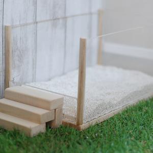 アクリル×100円ショップ桐材で砂場DIY