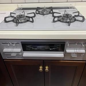 ガスレンジ 交換  Gas Range Cooker changed