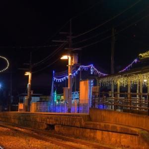 三日月駅のイルミネーション ~彼方に輝く三日月のシンボル~
