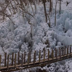 尾ノ内百景氷柱 ~凍結する渓谷~