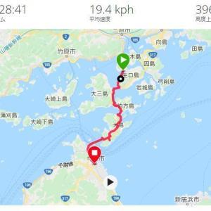神戸からロングライドの記録その5 4日目しまなみ海道から今治まで