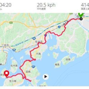 神戸からロングライドの記録その4 3日目しまなみ海道初日