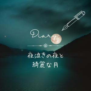 夜泣きの夜と綺麗な月