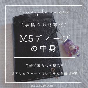 [手帳のお財布化]M5ディープの中身を紹介します