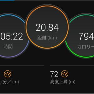 帰宅ラン 120分 7月は243km