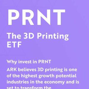 【米国株】ARK Invest (The 3D Printing ETF)銘柄より