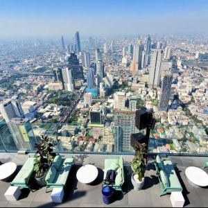 タイで最も高い場所に展望台がある、マハナコーンタワーの展望台