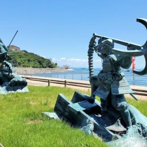 関門海峡の下関側の壇ノ浦戦場跡で、平家や源家の戦を思い浮かべる