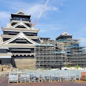 熊本県のシンボルである熊本城天守閣も、着々と復興作業は進んでいる