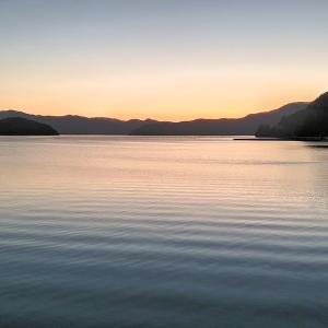 峰田山の上にある展望台から眺める夕陽と黄昏時【奄美大島旅行記㉙】