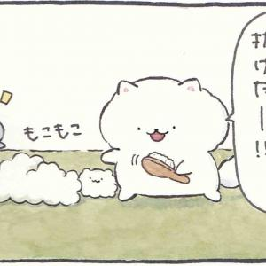 4コマ漫画「抜け毛」