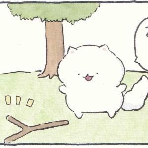 4コマ漫画「いい感じの枝」