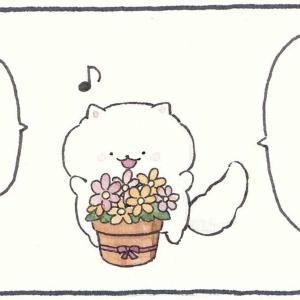 4コマ漫画「キレイなお花」