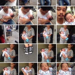 【悲報】カンボジア人さん、パクったiPhoneで可愛い我が子をパシャリ