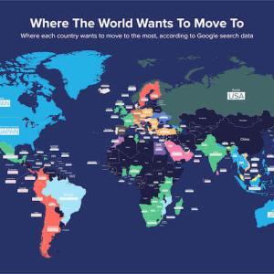世界の引っ越したい国人気ランキング、日本は2位、1位は…