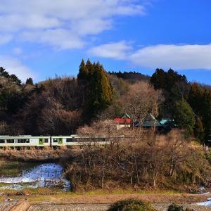 冬晴れの三輪神社