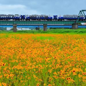 阿武隈川橋梁を渡る「越乃shu*kura」