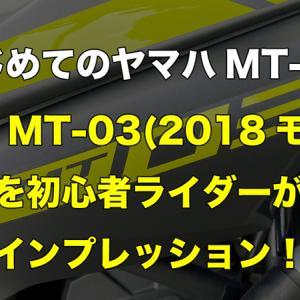 【レビュー】ヤマハMT-03 (2018モデル)を初心者目線でインプレッション!