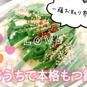 【九州お取り寄せグルメ】福岡にしか実店舗がない一藤のもつ鍋を楽しみました!【家飲み最高】
