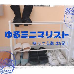 【30代女性】ゆるミニマリストの持っている靴の数は5足!シューズラックの紹介も♪