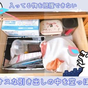 【片付けブログ】テレビ台のカオスな引き出しを空っぽにするまで【収納整理術】