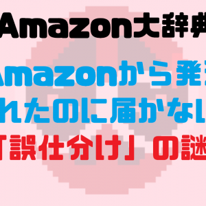 Amazonから発送されたのに届かない?「誤仕分け」の謎