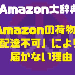 Amazonの荷物が「配達不可」により届かない理由