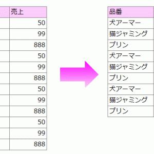 【エクセルVBA】指定した品番を含む行を一括削除するマクロ