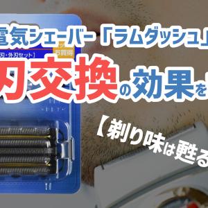 【剃り味は甦るか!?】電気シェーバー「ラムダッシュ」替刃交換の効果を検証
