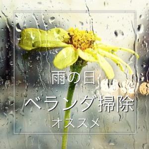 【100均】ベランダ掃除day【雨の日】