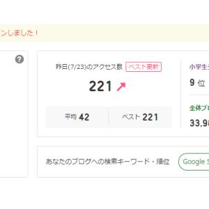 ブログ開設以降初めて!1日のアクセス数が…!!