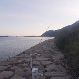 8月14日は、由良川右岸へ