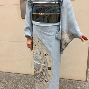 世界で高評価の麻コルトレイクの着物!手描き友禅によるオリジナル紋様