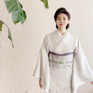 【花唐草紋様の訪問着】日本で唯一の生ハム職人が作るフレンチレストランへ!