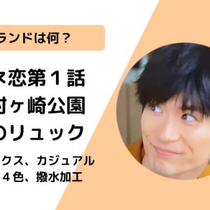 【カネ恋1話】三浦春馬着用リュックのブランドは何?ムスタッシュ