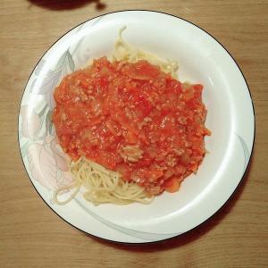 ホットクックで簡単:味付けは塩だけミートソースパスタのレシピ