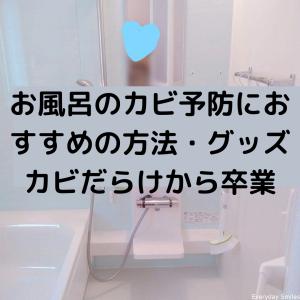 お風呂のカビ予防におすすめの方法・グッズ:カビだらけから卒業しました